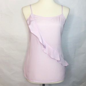 J. Crew Factory Lilac Tank Ruffle Camisole Size 4